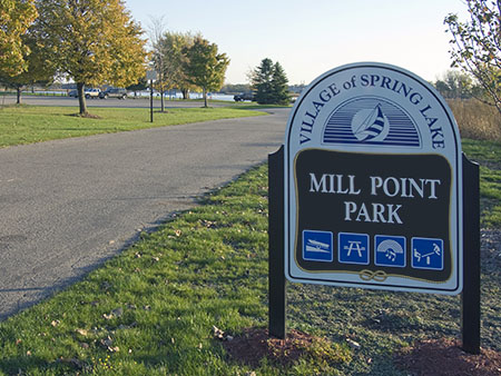 Mill Point Park Sign
