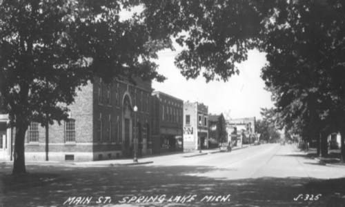 Savidge Street looking west from Spring Lake Village Hall c.1940