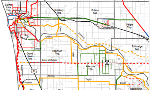 Ottawa County Non-Motorized Pathways Map